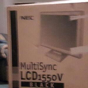 NEC MultiSync LCD1550V Black Monitor