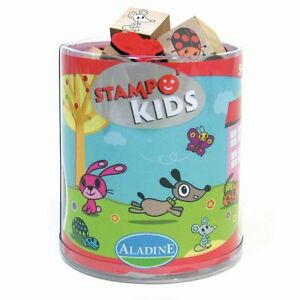 ALADINE Stampo Kids Lieblingstiere Kinderstempel Stempel Kinder basteln malen