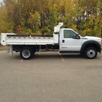 2012 Ford F-550 XLT with 12ft Contractors Dump Box