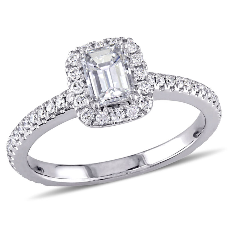 Amour 7/8 CT TW Diamond Engagement Ring in 14k White Gold