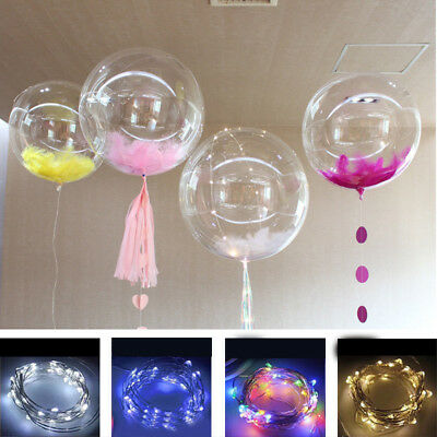 Colourful Christmas Decal Led String Light With Transparent Helium Balloons 20