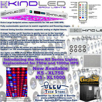 Kind LED K5 XL750 Grow Light and Gorilla Grow Tent Bundle