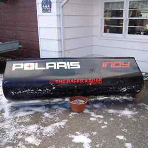 Fiberglass snowmobile trailer dam