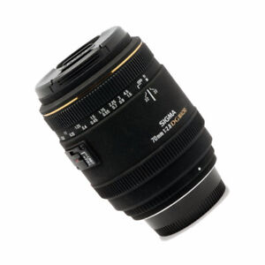 Nikon Mount - Sigma 70mm F/2.8 EX DG Macro Lens As New
