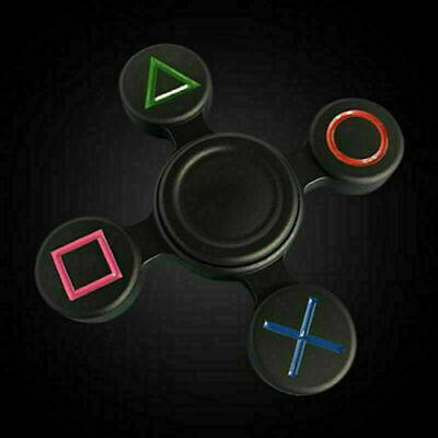 Fidget Hand Spinner PlayStation PS Controller Finger Focus Toy ADHD Autism Kids