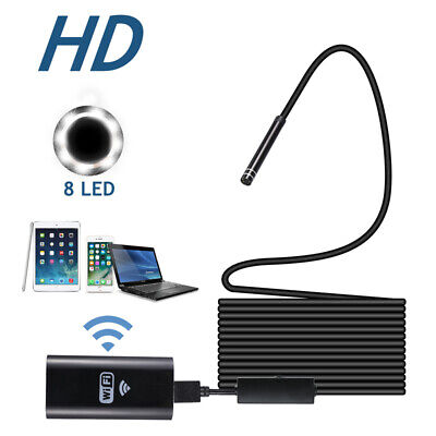 8led Wifi Borescope Endoscope Snake Inspection Camera For Iphone Android Ios New