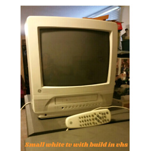 crt tv with built in VHS player and remote