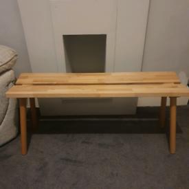 Scandi style dining bench