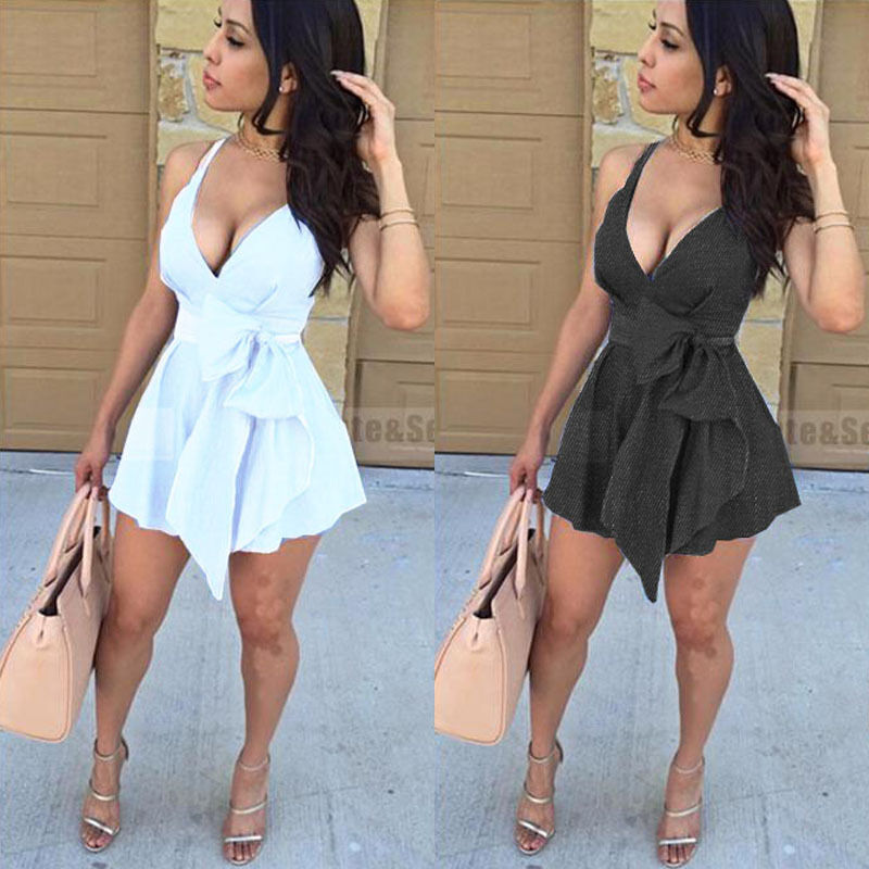 Dress - US STOCK Women Sleeveless Bandage Bodycon Evening Party Cocktail Club Mini Dress