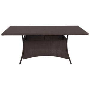 Lioni Tropea Wicker Patio Dining table 70 X 42; New in Box