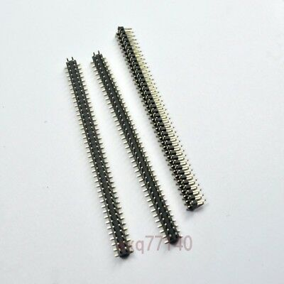 10pcs Rohs 2.0mm 2x40 Pin Header Double Row Smtsmd Male 80pin For Dip Pcb Board