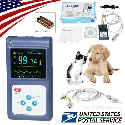 Usa Vet Veterinary Pulse Oximeter Spo2 Pulse Rate Animals Tongueear Probe Fda
