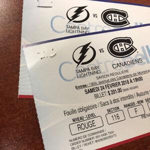 Tampa Bay @ Canadiens  - Samedi 24 février