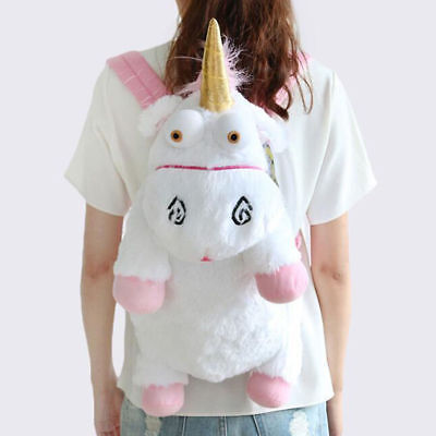 Despicable Me2 Cute Fluffy Unicorn BACKPACK Stuffed Soft Plush Toys Child Bags - Despicable Me Backpack