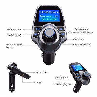 FM Transmitter Handsfree Portable Car Radio Adapter Dual USB AUX Player Accs Portable Fm-transmitter