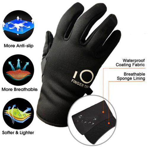 Mens Warm Gloves Waterproof Ski Snowboard Bike Thermal Mitte