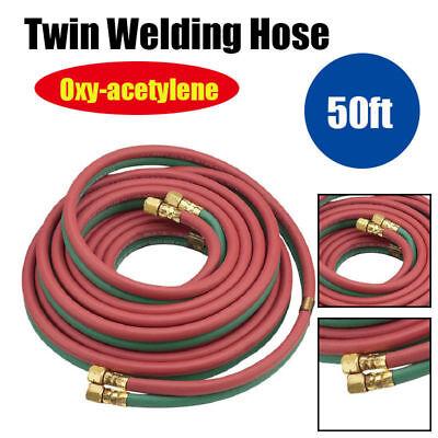 14 20ft 50ft Oxy Acetylene Twin Welding Hose Oxygen Cutting Heavy Duty Industr