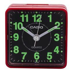 Casio TQ140-4 Red/Black Neobrite Analogue Beep Travel Alarm Clock TQ-140-4EF New