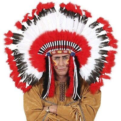 Kostüme Kopfschmuck (Indianer Kopfschmuck deluxe Häuptling Indianerin Zubehör Kostüm Zubehör  #2927)