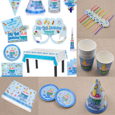 My 1st Birthday Party Decorations Kids Party Supplies Tableware Set Napkins/Cups - My First Birthday Decorations