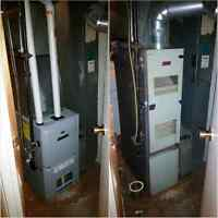 FURNACE REPAIR, WATER TANK, GAS LINE, RED TAG