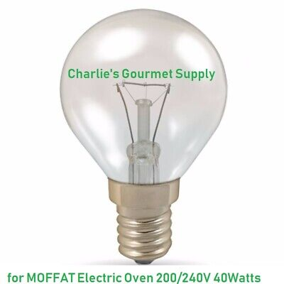 40w Small Edison Screw 300c Degree Round Oven Bulb For Moffat Electric Oven