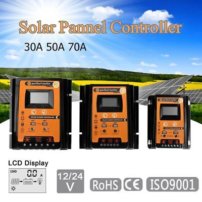12/24V 30/50/70A MPPT Solar Charge Controller Panel Battery Regulator Dual (Panel Controller)