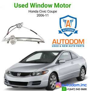 Used Right Window Regulator and Motor Civic Coupe 2006-11