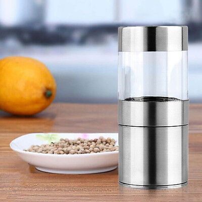 Manual Stainless Steel Salt Pepper Mill Grinder ...