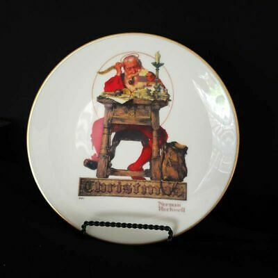 Norman Rockwell Letter To Santa Gorham 1980 Annual Collector Christmas Plate
