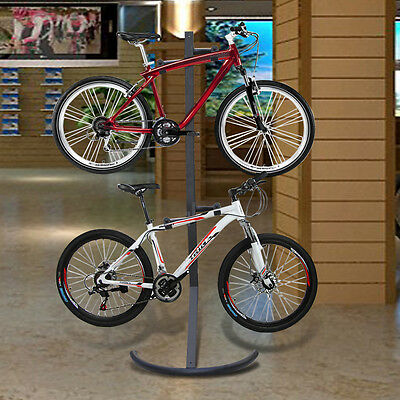 Gravity Bike Stand Cycle Tidy Holds 2 X Bike Mount Standing Storage Bicycle Rack