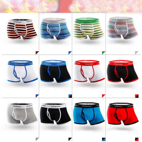 Men Soft Cotton Breathable Underwear Boxer Briefs Shorts Sex