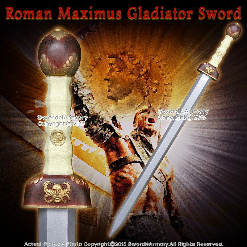 "40"" Roman Maximus Gladiator Foam Padded Sword Cosplay Costume Prop LARP New"