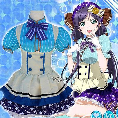 LoveLive Tojo Nozomi Cosplay Kostüm Kleid Maid Mädchen Prinzessin Karneval Maid