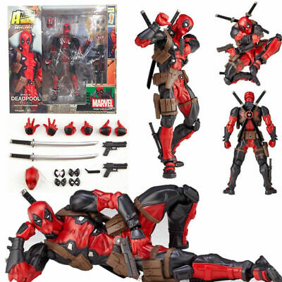 "6"" Marvel Legends X-men DEADPOOL Action Figure Revoltech Kaiyodo Version No Box"