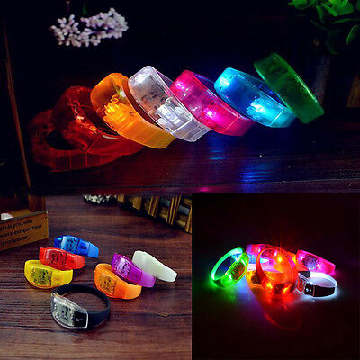 LED Light Voice Control Bracelet Bangle Sound Activated For Party Rave - Concert Led