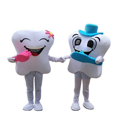 Tooth Costumes (Adult Dental Care Costume Tooth Mascot Costumes Facny Dress For)