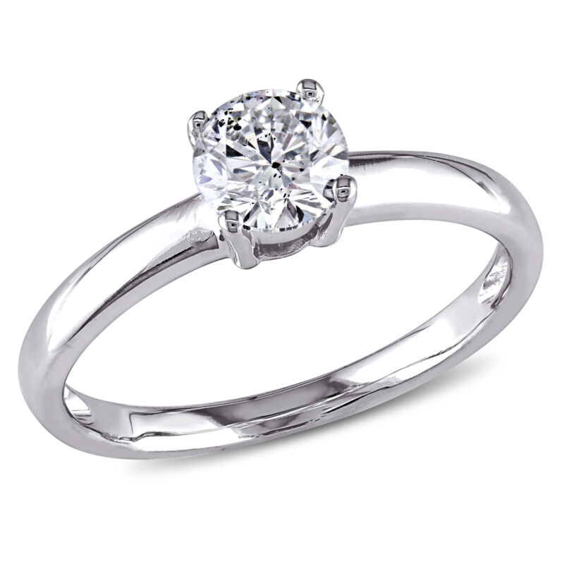 Amour 3/4 Ct Tw Diamond Solitaire Engagement Ring In 14k White Gold