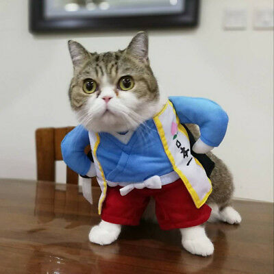 Cute Pet Cat Dog Clothe Japan Samurai Jedi Uniform Cosplay Costume Fancy (Samurai Kostüm Hunde)