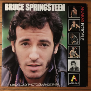 """BRUCE SPRINGSTEEN ANABAS FOTOFILE 6 GLOSSY 12"""" PHOTOS"""