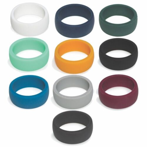 Silicone Wedding Band Mens Engagement Ring Flexfit Hypoallergenic Gym Sport Band