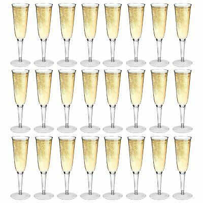 Plastic Outdoor Champagne Flutes. Strong Dining Drinking Cups Glasses - x24 - Champagne Cups