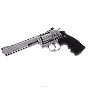 """ASG 16559 Dan Wesson Silver 6"""" CO2 BB Revolver"""