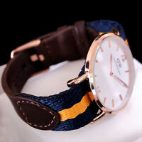 Brand New Mens Watch| Mens Genuine Leather Nylon Strap Watch