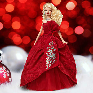 Holiday-BARBIE-2012-Doll-Collectors-Pink-Label-Mint-Red-Dress-NRFB-New-Beautiful