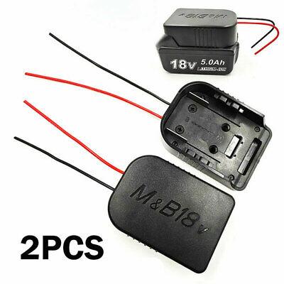 2X 18V Adapter für MAKITA für BOSCH Akku-Ladestation mit DIY 1332 14AWG Kabeln R
