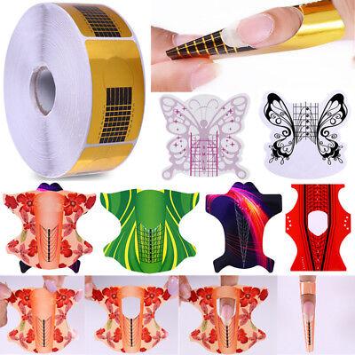 20/100/500Pcs Nail Form for Acrylic/UV Gel Nail Tips Extension Nail Art (Gel Form)