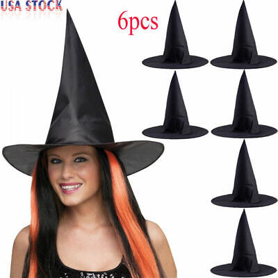 6X HALLOWEEN WITCH WIZARD HAT FANCY DRESS COSTUME ACCESSORY BOOK FILM CHARACTER - Halloween Film Characters Fancy Dress