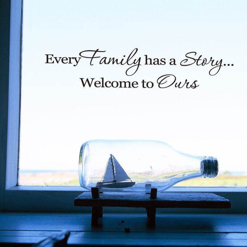 Home Decoration - Family Home Family Story Quote Wall Stickers Art Dining Room Removable Decals