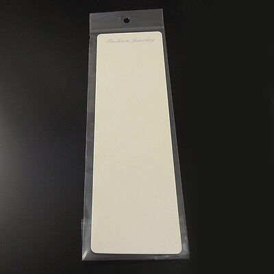 26.57cm Paper Beige Jewelry Case Necklace Display Hanging Card With Bag 60pcs